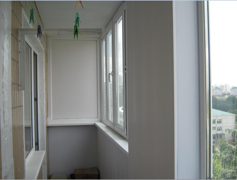 Застеклить балкон полувыносной в 9-ти этажке фото и цены.